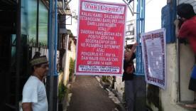 Cegah Sebaran Corona, Warga RW 02 Tegal Lempuyangan Kelurahan Bausasran Pasang Himbauan Di Depan Gang